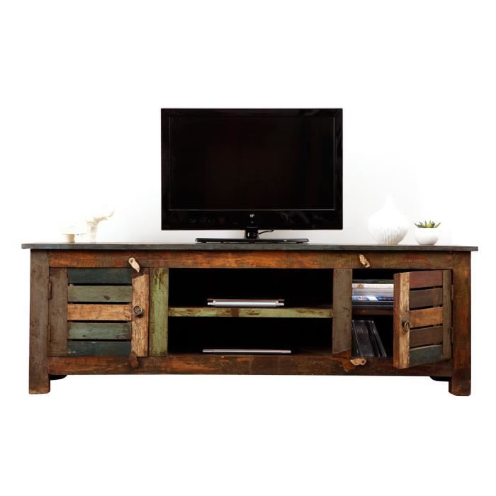 miliboo meuble tv bois recycl mayotte achat vente. Black Bedroom Furniture Sets. Home Design Ideas