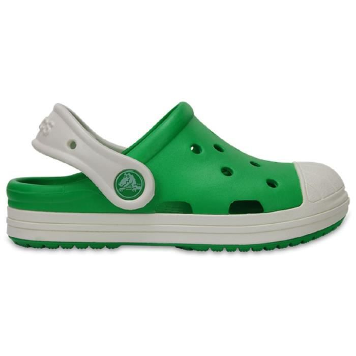 Crocs Bump It Clog Enfants Sabots Chaussures Sandales en Grass Vert - Oyster 202282 3N7 [Child 9]