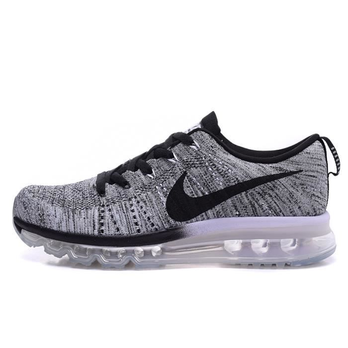 Homme Nike Flyknit Air Max 2014 Chaussures de running gris