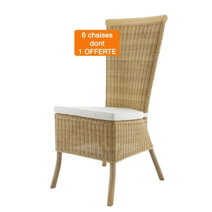 Lot 6 chaises celine osier achat vente chaise osier for Lot 6 chaises rotin