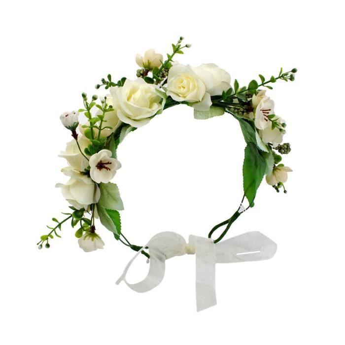 Classique Fleur Serre-tête ruban couronne mariage guirlandes Floral Couronne Hairband