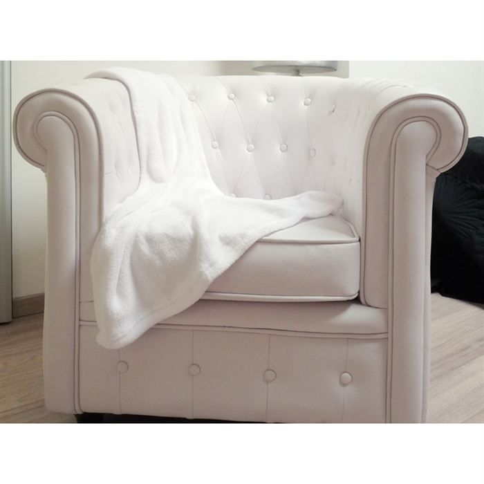 plaid polaire microfibre blanc achat vente couverture plaid cdiscount. Black Bedroom Furniture Sets. Home Design Ideas