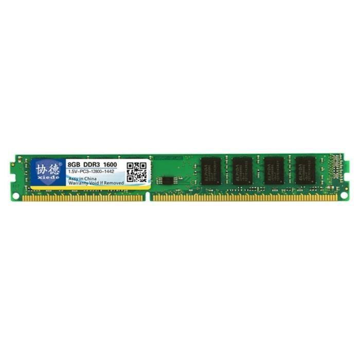 MÉMOIRE RAM Mémoire Vive Ram Ddr3 1600 Mhz 8gb 1.5v Module De