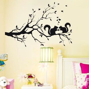 stickers arbre ecureuil achat vente pas cher. Black Bedroom Furniture Sets. Home Design Ideas