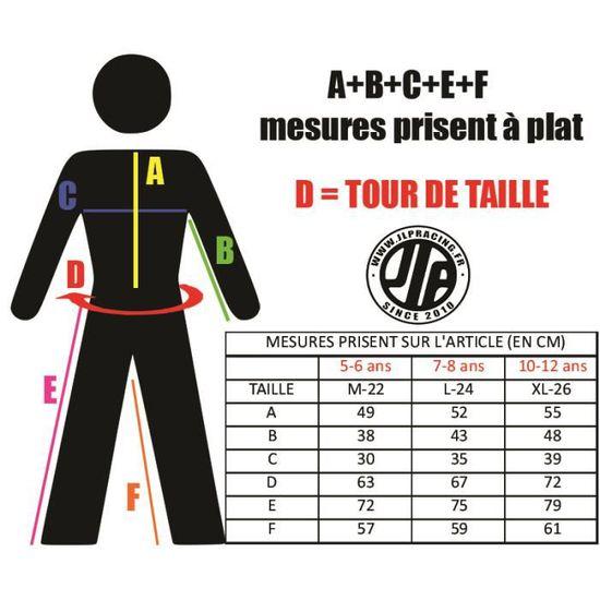 Tenue Enfant 10-12 Ans Moto Cross Quad VTT BMX MTB Pantalon Gants Maillot Orange JLP RACING Taille 26 US//XL