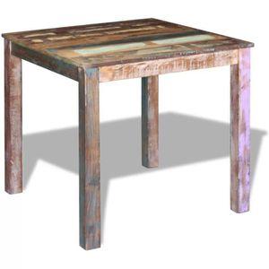 TABLE À MANGER SEULE Table à Manger en Bois Massif de récupération 80 x