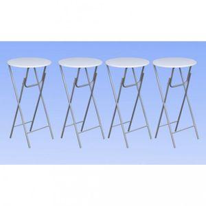 MANGE-DEBOUT Tables hautes Lot de 4 tables de bar ronde haute b