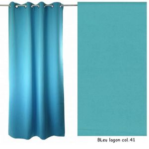 RIDEAU OBSCURCISSANT souple ( Bleu lagon Col.41)
