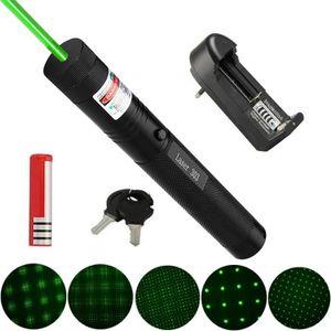 ECLAIRAGE LASER 303 pointeur laser présentateur vert puissant + 18
