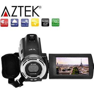 CAMÉSCOPE NUMÉRIQUE AZTEK® Caméra HD 720P 16MP caméscope numérique Pou