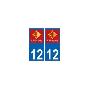 4 STICKERS PLAQUE AUTO IMMATRICULATION DEPARTEMENT 79 logo AQUITAINE Lion Rouge