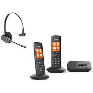 Téléphone fixe Gigaset C570A Duo + Casque C565 GAP - Téléphone DE
