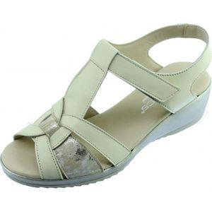 SANDALE - NU-PIEDS TRUE - Sandale compensée confort à velcro scratch