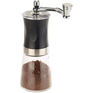Moulin /à caf/é manuel moulin /à caf/é /à main en acier inoxydable avec fraise /à c/ône en c/éramique ajustable avec pinceau /à /épices et cuill/ère /à mesurer