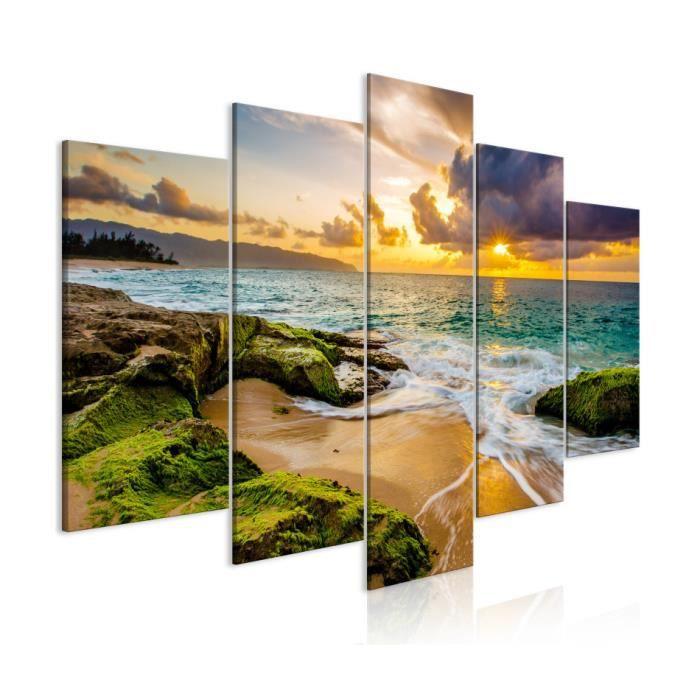 Tableau - Turquoise Sea (5 Parts) Wide - 100x50 - Artgeist
