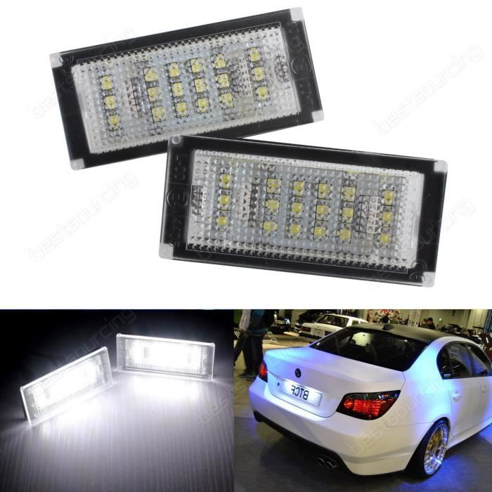 ANGRONG 2x Canbus plaque d'immatriculation LED lampe d'éclairage pour BMW Série 3 E46 Facelifted & M3 2004-2006