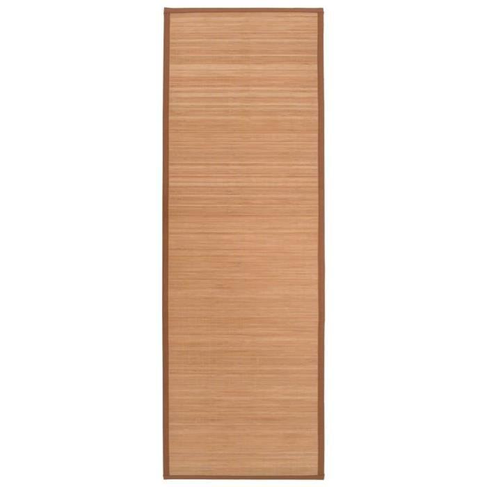 Tapis de yoga Bambou 60 x 180 cm Marron -JID