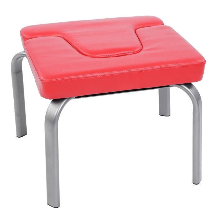 INGSHOP© Chaise de Yoga Banc d'inversion pour poirier - Rouge