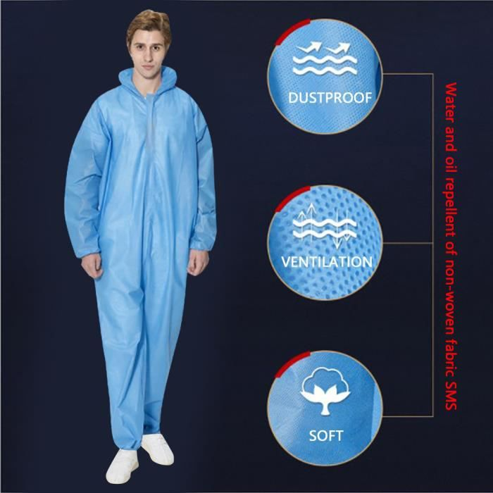 Protection sportive Combinaison Chemical Hazmat Isolation Suit Vêtements de protection jetables Nouveau GJJ200320001BUXL_365