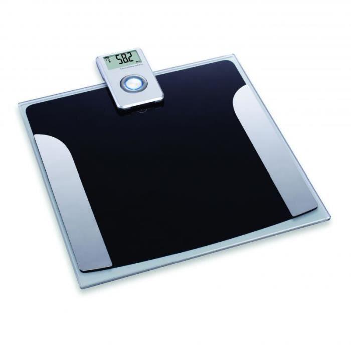 Pèse personne avec écran amovible Noir 30,2 cm