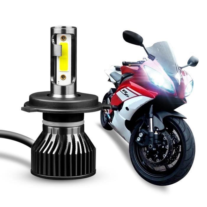1PC Moto PHARE LED 35W 6000K BLANC Lampe Brouillard Lumières COB AMPOULE Led Avant Phare Pour Moto projecteurs H1 H4 H11 -WM2806
