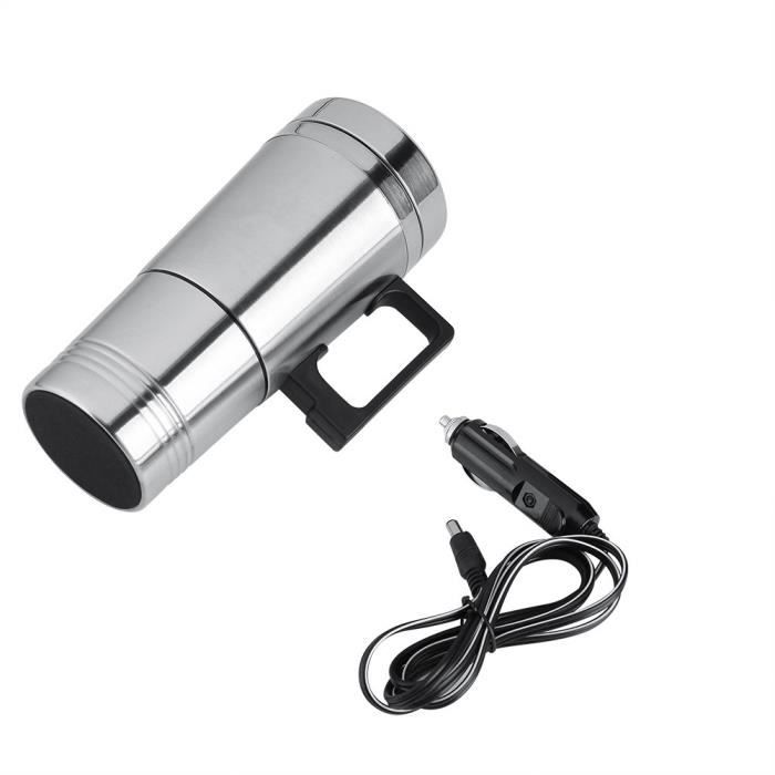 GLOGLOW Tasse de Chauffage de Voiture, Voiture électrique de thé de café de 12V - 24V 300ml Voiture Bouilloire électrique de Voya