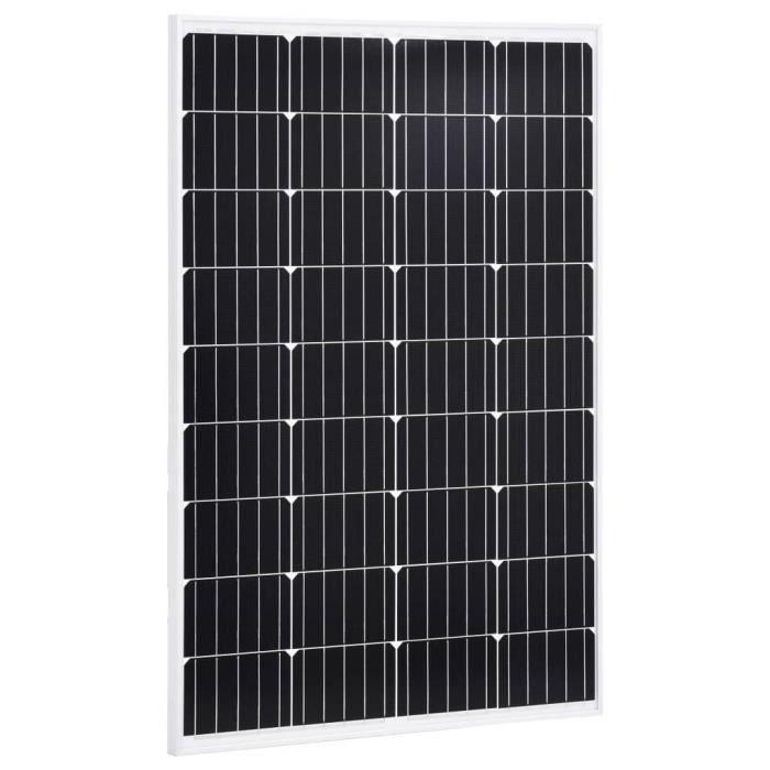 Panneau solaire 120W Monocristallin Aluminium Verre de sécurité