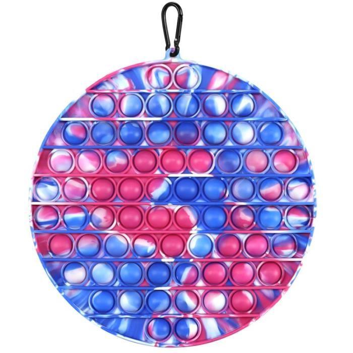 couleur 20x20 cm De grande taille Jouets Pop It Push Bubble Fidget sac de verser pendentif d'école anti-stres