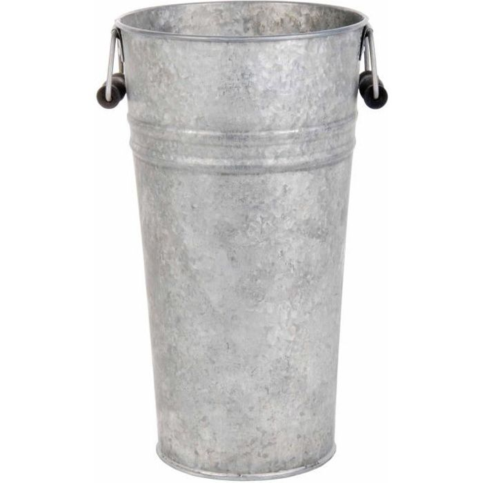 Vase en forme de seau vieux zinc