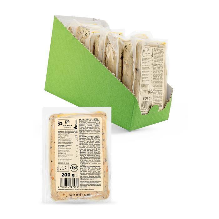 KoRo Tofu bio aux olives 6 x 200 g