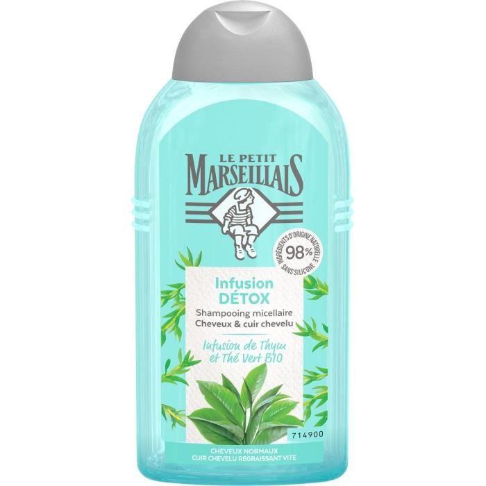 Shampooing Le Petit Marseillais Infusion Détox thym et thé vert Bio 250 ml