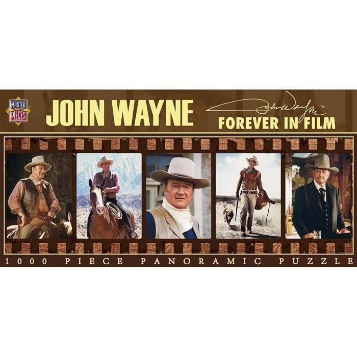 Puzzle 1000 pièces panoramique : John Wayne éternellement dans le film aille Unique Coloris Unique