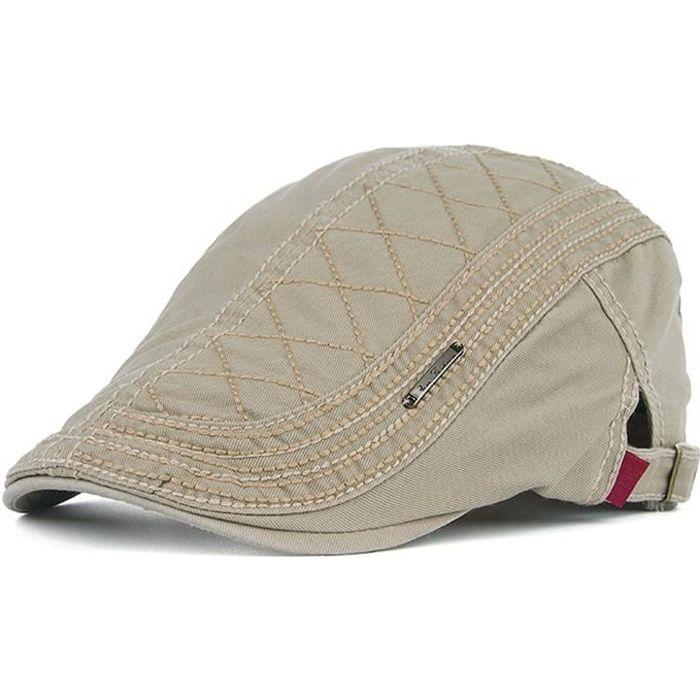 Minetom Homme Élégant Coton Gatsby Ivy Casquette Unisexe Béret Réglable Chapeau Visières Pour Loisir Voyage Sport Golf Snapback Cap