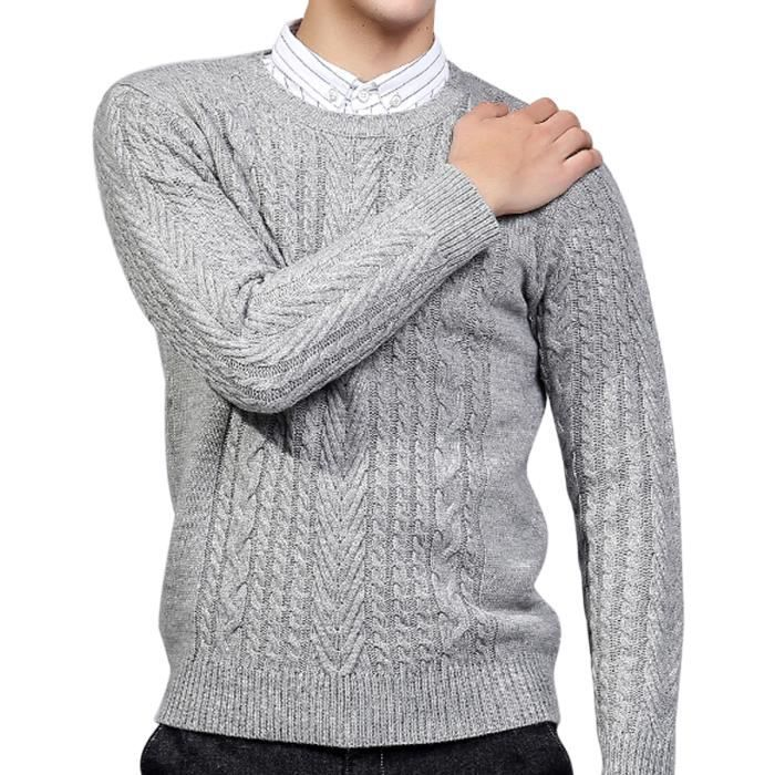 Pull homme slim casual