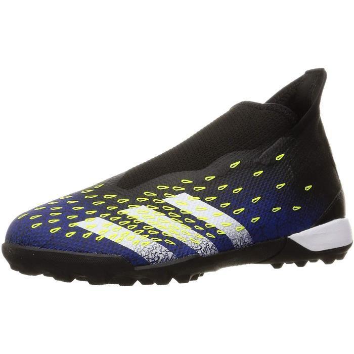 Adidas Predator Freak .3 Ll Tf , Chaussures De Football Homme, Noir, Blanc, Jaune (Negbás Ftwbla Amasol), 44 Eu