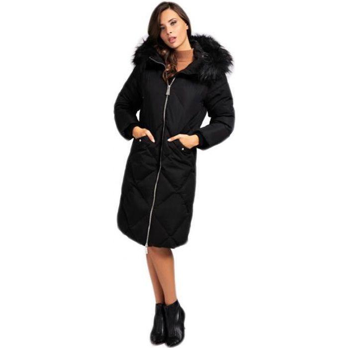 Guess doudoune longue femme noir W0BL71 - Taille - XL