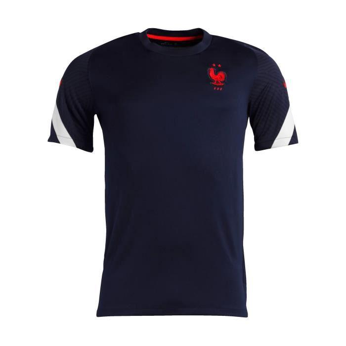 NIKE Maillot de Football entraînement FFF Trg Top 20 - Mixte - Bleu