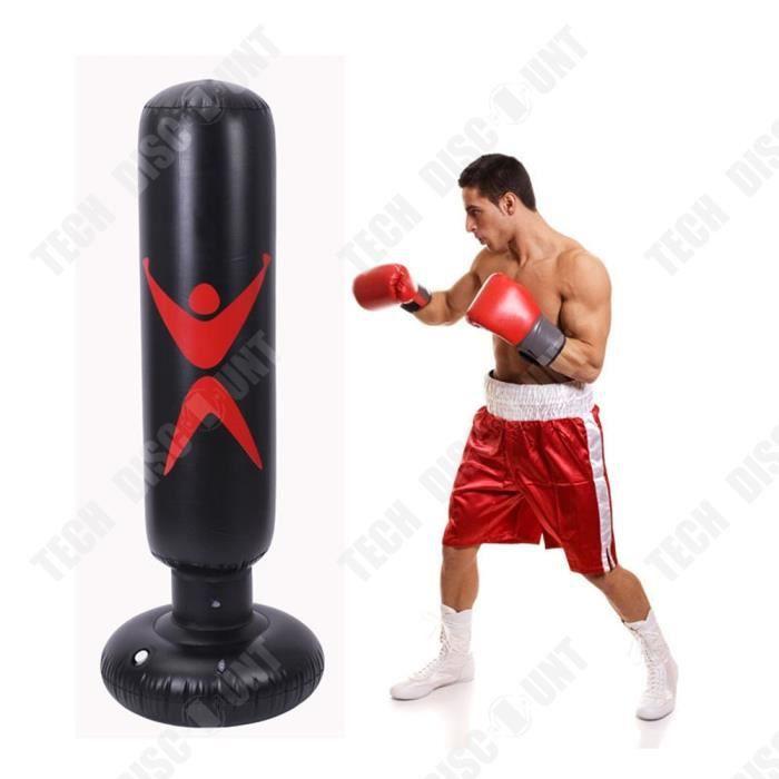 TD® Formation Fitness sac de boxe gonflable vertical PVC épaississement pilier de boxe gobelet colonne sac de boxe outil de Fitness
