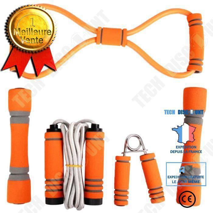 TD® 5 pcs Fitness Fournitures Portable Durable Exercice Accessoires de Sport Équipement de pour À L'intérieur Maison CORDE A SAUTER
