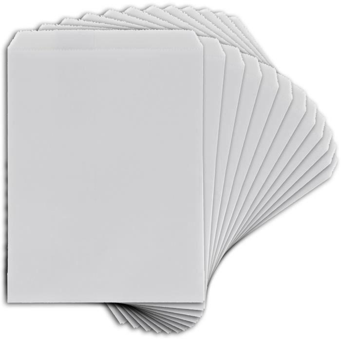 D.I.Y WITH TOGA Pack de 12 Sachets papier - Petit format - Blanc