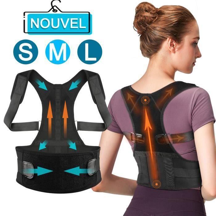 Correcteur de posture,améliorer la posture,ceinture réglable léger discret et confortable, pour soulager les douleurs dorsales -M