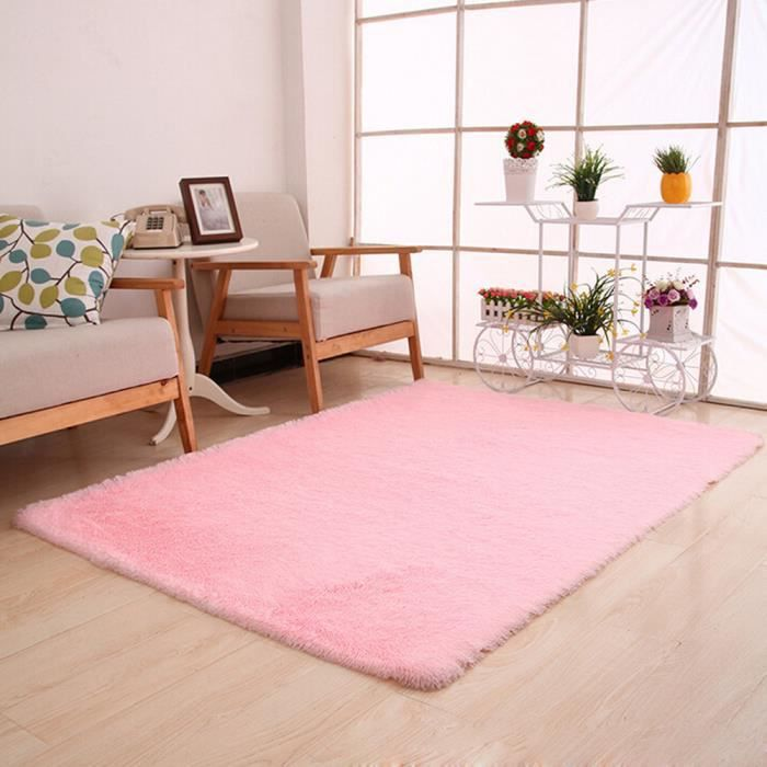 Tapis Duveteux Anti Skid Shaggy Area Tapis Salle A Manger Chambre