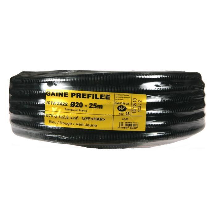 Gaine ICTA pr/éfil/ée Diam.20 3G 1,5mm/² 100m