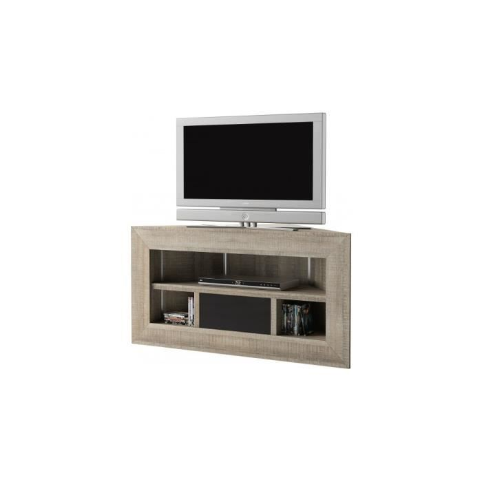 meuble tv d 39 angle ch ne gris brooklyn achat vente meuble tv meuble tv d 39 angle ch ne gri. Black Bedroom Furniture Sets. Home Design Ideas