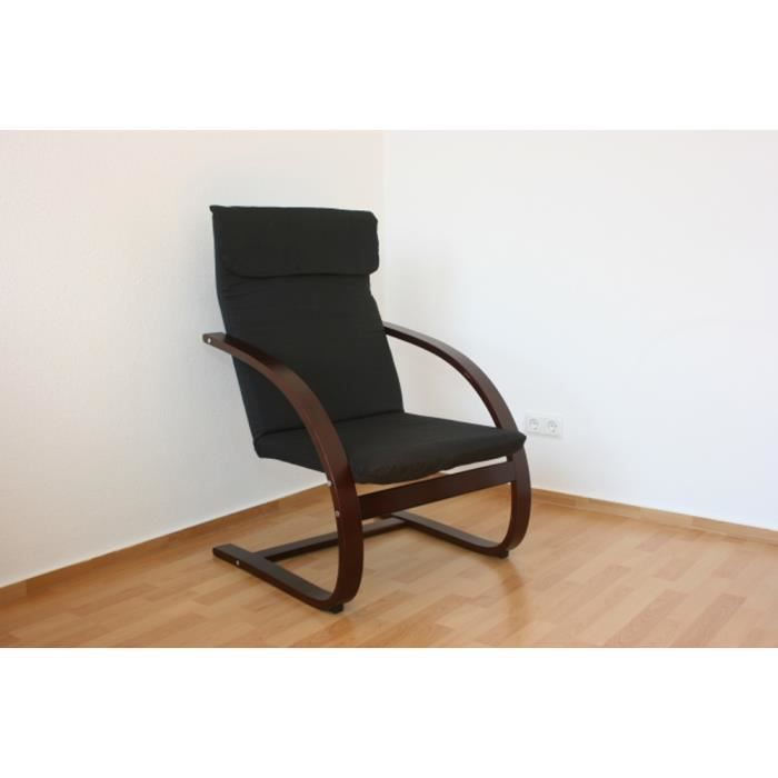rocking chair fauteuil bascule en 2 coloris n achat vente fauteuil noir soldes cdiscount. Black Bedroom Furniture Sets. Home Design Ideas