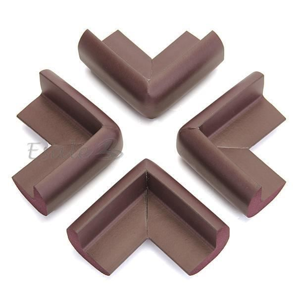 4 x brun bumper pare chocs bord coin de table protection for Coin de table ikea