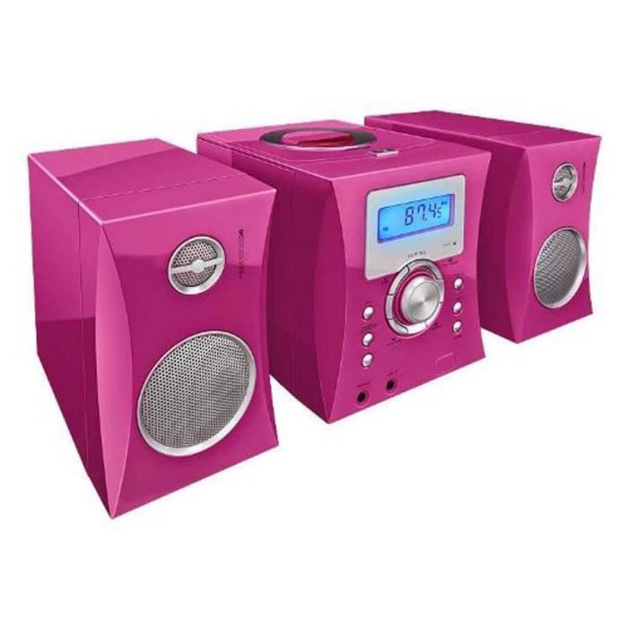 micro chaine radio cd rose stickers chaine hi fi avis et prix pas cher cdiscount. Black Bedroom Furniture Sets. Home Design Ideas