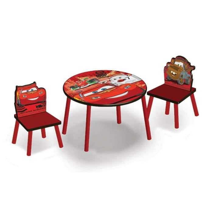 table ronde et chaises cars disney achat vente table et chaise table ronde et chaises cars. Black Bedroom Furniture Sets. Home Design Ideas