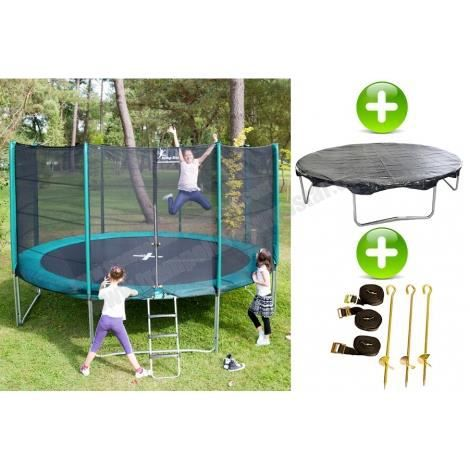 pack trampoline jumpstar 305 cm bache kit d 39 ancrage. Black Bedroom Furniture Sets. Home Design Ideas