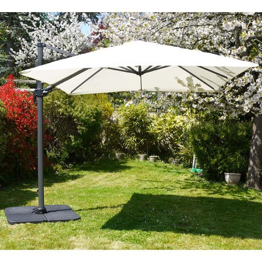parasol d port rotatif 360 carr 3x3m beige achat. Black Bedroom Furniture Sets. Home Design Ideas
